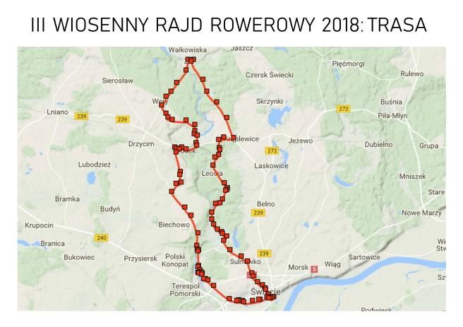 Trasa III Wiosennego Rajdu Rowerowego